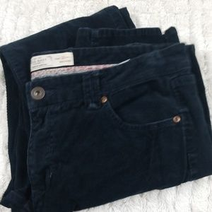 Navy corduroy women's pants